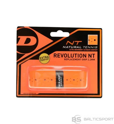 Tennis racket replacement grip DUNLOP NT REVOLUTION, orange 1pcs.