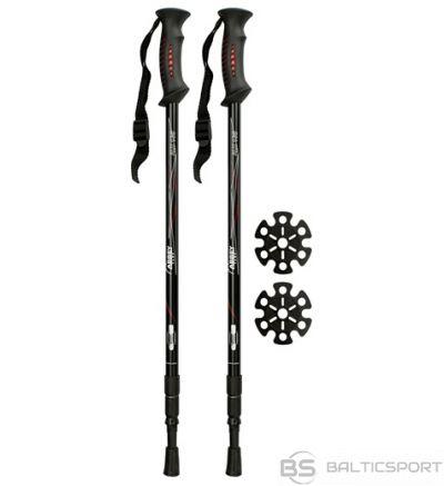 Schreuderssport Hiking cane adjustable Abbey 21SV anti shock Black/red