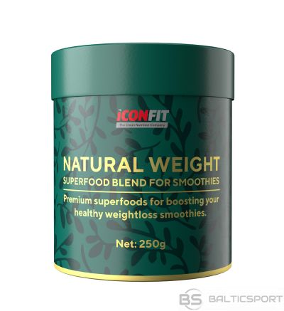 ICONFIT Natural Weight (250g) Superproduktu maisījums tievēsanai (ar ogām, smūtijiem)
