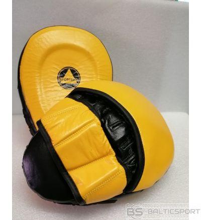Boksa ķepas -2gb/pāris - āda / boxing pads - pair/2psc set - leather