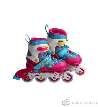 Regulējama izmēra skrituļslidas Street runner girl / meiteņu skrituļslidas / rozā