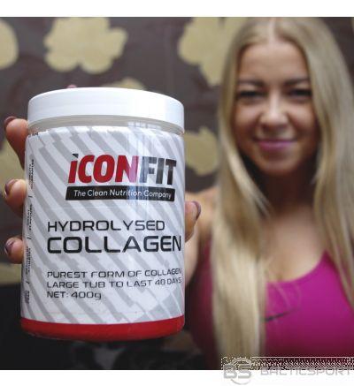 ICONFIT Hydrolyzed Collagen (400g) Hidrolizēts 100% kolagēns Iconfit