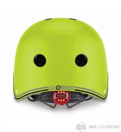 Ķivere ar led gaismu Globber Primo Lights / XS - S; 48 - 53 cm  laima zaļa
