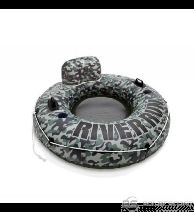 XL Peldriņķis Intex Camo River Run  / 135cm diametrs /  liels peldriņķis ar rokturiem