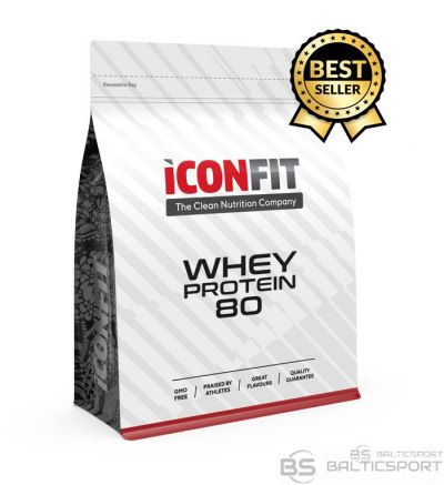 Iconfit Whey protein 80 - chocolate -Sūkalu proteīns -šokolāde - 1kg