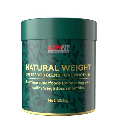 ICONFIT Natural Weight (250g) Superprodukyu maisījums tievēšanai (ar neapstrādātu kakao, smūtijiem)