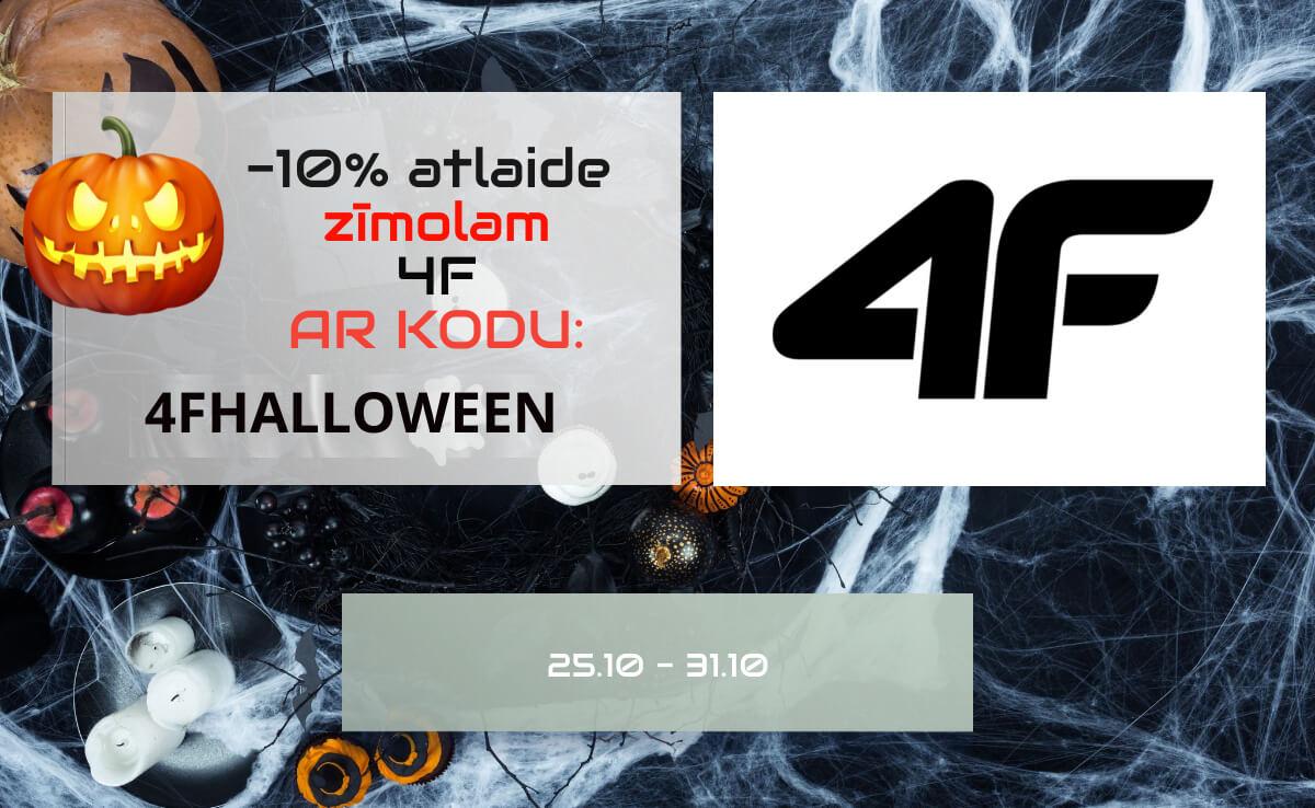 -10% atlaide 4F zīmolam ar kodu