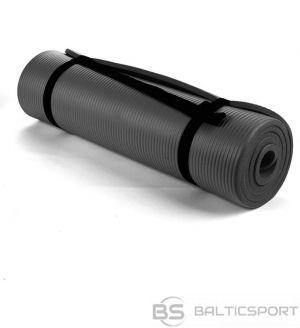 Fitnesa vingrošanas paklājs NBR 190x100x1.5cm - melns