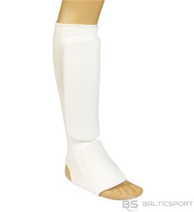 Karate shin-foot protector Matsuru 100% cotton S white