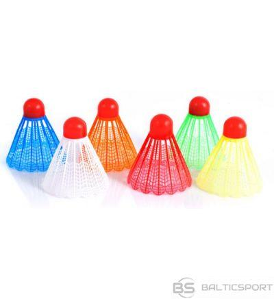 Krāsaini badmintona volāni - 6gab