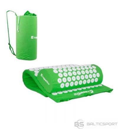 Akupresūras komplekts (spilvens + paklājs) inSPORTline Alavea - zaļš