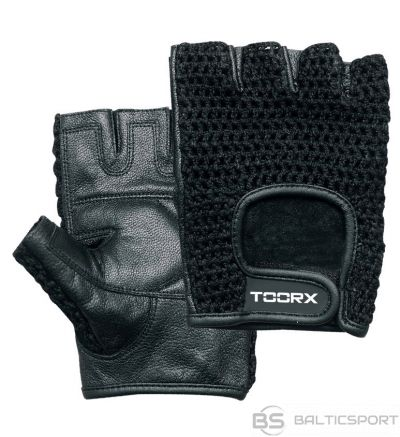Toorx training gloves AHF039 L black leather and mesh