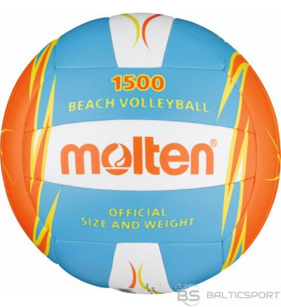 Beach volleyball MOLTEN V5B1500-CO for leisure, synth. leather