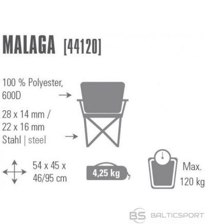 High Peak Chair Malaga saliekamais tērauda krēsls (44120)