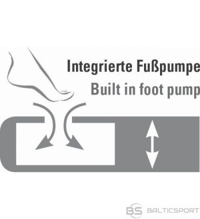 High Peak Cross Beam Single Extra Long Airbed piepūšamā gulta ar integrētu kājas pumpi (40043)