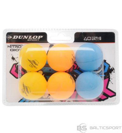 Table tennis balls DUNLOP NITRO GLOW 6pcs.