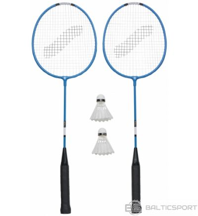 Stiga Badmintona komplekts Hobby HS (2 Pieaugušo raketes+ 2 volāni + čehols)
