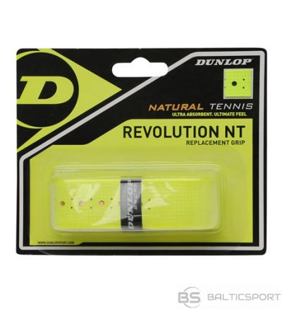 Tennis racket replacement overgrip DUNLOP NT REVOLUTION, yellow 1pcs