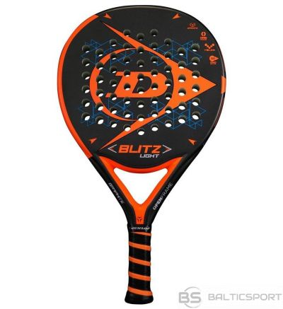 Padel tennis racket Dunlop BLITZ LIGHT 350-365g Oversize ULTRA-SOFT for advanced players black-orange