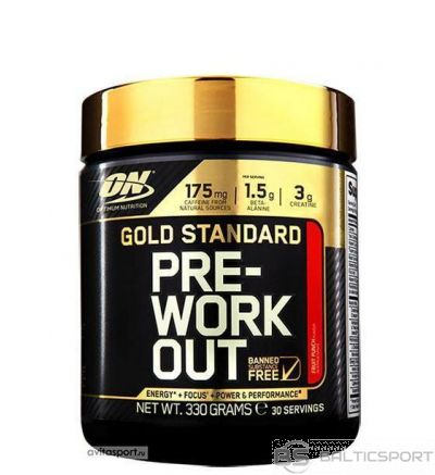 Optimum Nutrition Gold Standard Pre-Workout 330 g - Zaļo ābolu / 330 g