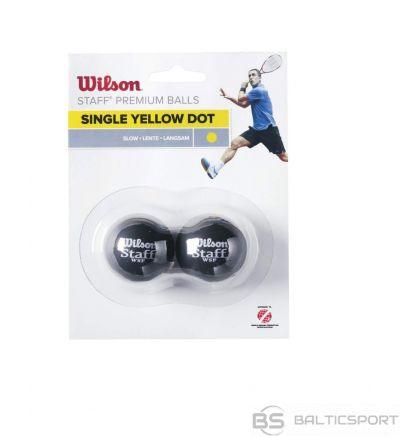 WILSON skvoša bumbiņas STAFF Iepakojumā 2 gb. - yellow dot