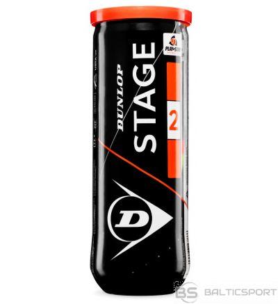 Tennis balls DUNLOP STAGE 2 3-tube orange