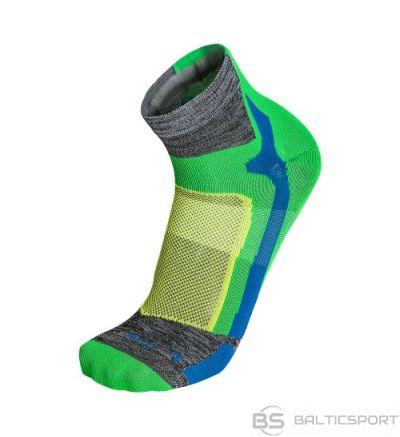 Mico Professional Running Sock Light / Pelēka / Zaļa / 35-37