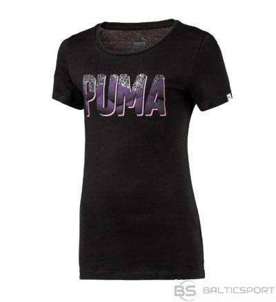 Puma stila grafiskā tee 592666 51 / Melna / 128 cm