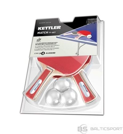 Table tennis set KETTLER MATCH ITTF approved for 2 players