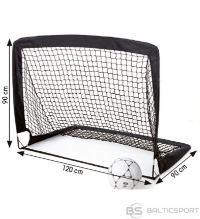 Folding football goal Tremblay 120x90x90 black