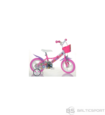 Skrejritenis Bimbo Bike 12'', rozā/balts