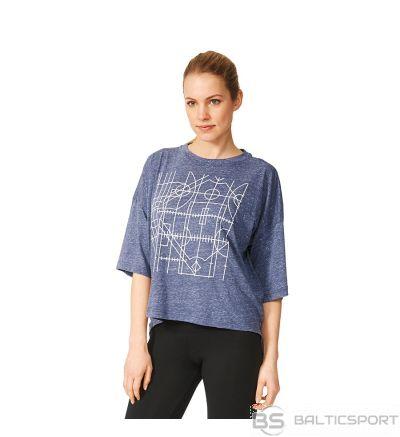 T-krekls adidas negabarīta grafiskā tee AY0181 / Jūras zila / XS