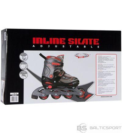 Bērnu regulējamās skrituļslidas Schreuderssport Skates NIJDAM 52SK 34/37 navy red/grey/black