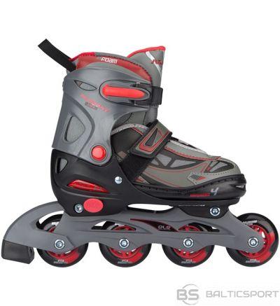 Bērnu regulējamās skrituļslidas Schreuderssport Skates NIJDAM 52SK 38/41 navy red/grey/black