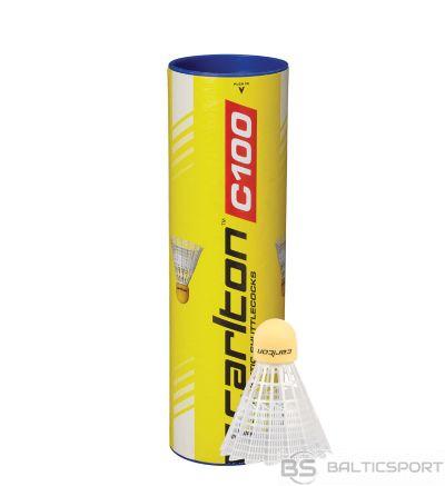 Badminton shuttlecocks Carlton C100  synthetic, medium speed, 6 pcs.