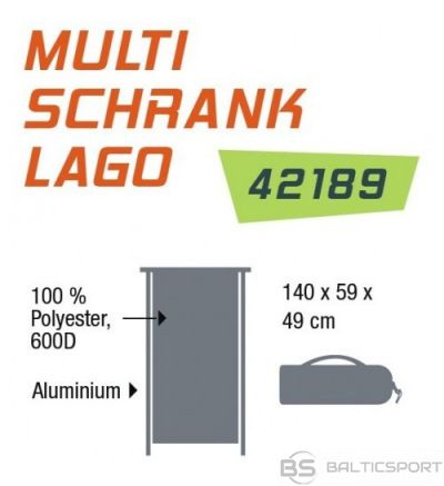 Simex Sport Multi Cupboard Lago multifunkcionālais kempinga skapis (42189)