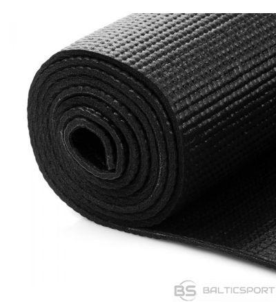 Yoga mat  jogas/ vingrošanas  paklājs - 173x61x0,5cm - melns