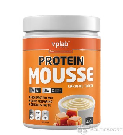 VPLab Protein Mousse - Karameļu-īrisa / 330 g