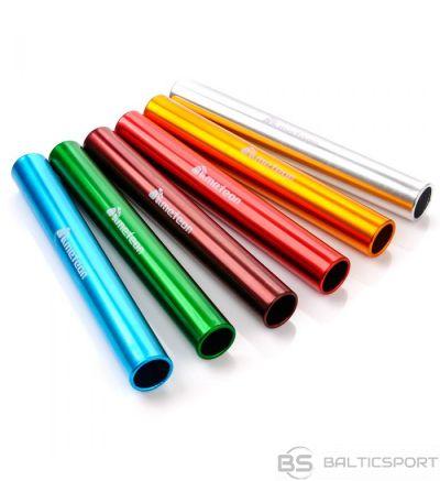 Stafetes kociņi, alumīnija - 6gab krāsaini