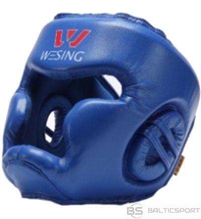 WESING boxing headguard PU, blue, XL closed