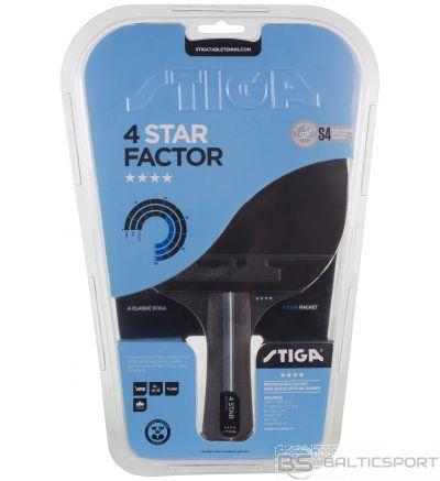Stiga Factor 4* (concave) galda tenisa rakete