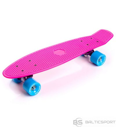 Skeitborda METEOR rozā / neona zils / 23691