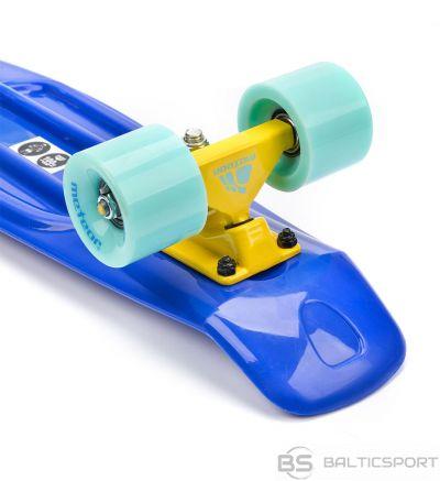 Meteor skeitborda plastmasa zili-zili-dzeltena 22629