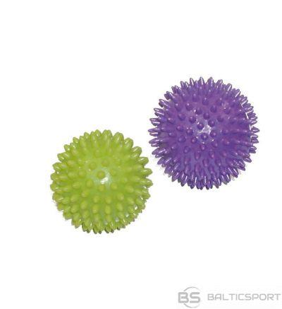Toorx Massage balls AHF001 7,5cm 9cm 2pcs lime green/purple