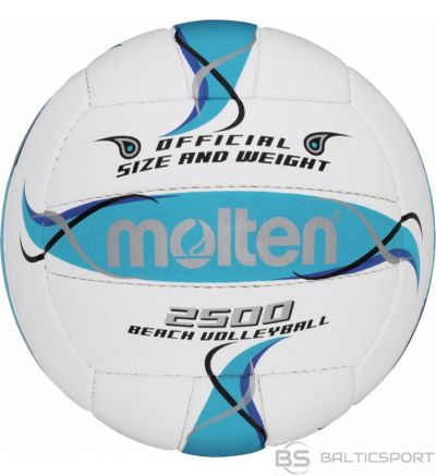 Beach volleyball MOLTEN BV2500-FBO for training, synth. leather