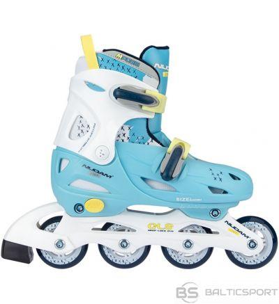 Bērnu regulējamās skrituļslidas Schreuderssport Skates NIJDAM 52SH 34/37 light blue/white
