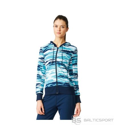 Džemperis adidas Essentials Hoody All Over Print AY4877 / Zila / XXS