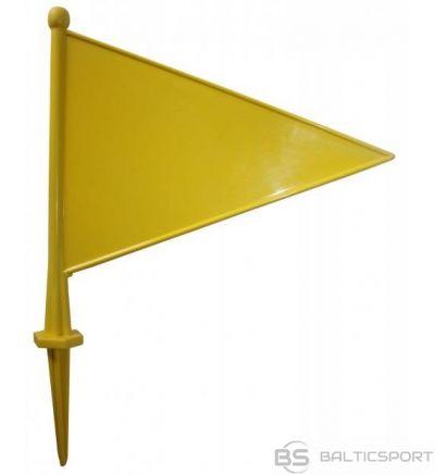 Acito Plastikāta karodziņš ( dzeltens ) izmērs: 29 x 22 cm