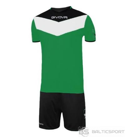 Givova Kit Campo futbola forma - zaļš ar melnu