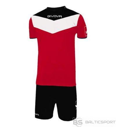Givova Kit Campo futbola forma - sarkans ar melnu